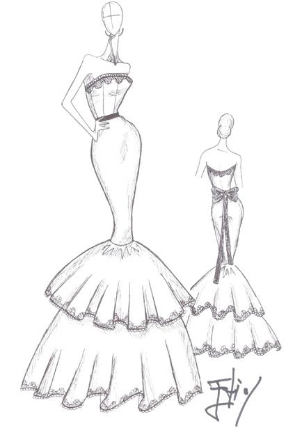 Dise ando for Dibujos de disenos de moda
