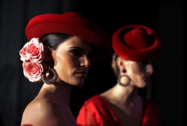 Flamencas con sombrero calañés de Curro Durán