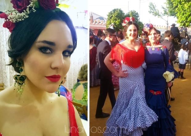 Miércoles de estreno con mi tía vestida por Sánchez Murube